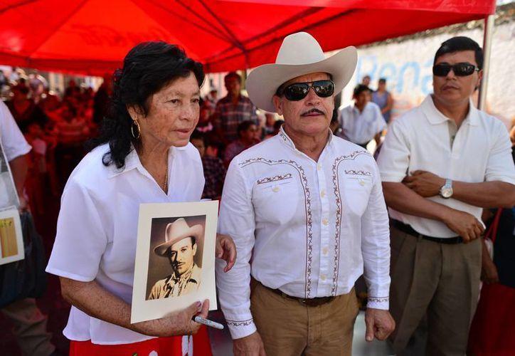 A 58 años de su muerte, en Mérida se mantiene intacta la memoria de Pedro Infante. La imagen corresponde a los eventos del aniversario luctuoso en 2014. (SIPSE)