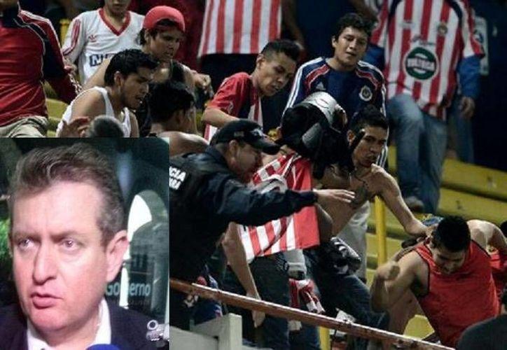 El fiscal de Jalisco, Luis Carlos Nájera (r), declaró que uno de los tres nuevos detenidos presumió en internet el ataque contra policías. (Milenio/Foto tomada de Twitter de la Fiscalía de Jalisco)