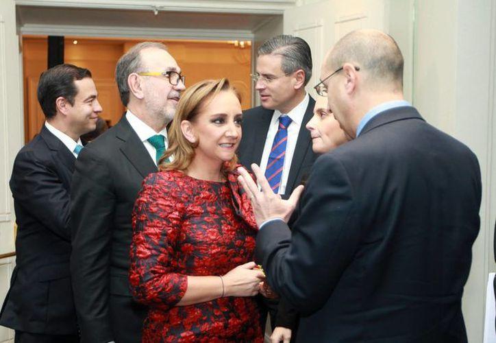 La canciller Claudia Ruiz Massieu participó en el U.S.-México CEO Dialogue celebrado en la Ciudad de México, donde se abordó la importancia de facilitar el comercio a través de la frontera que comparten México y EU. (Notimex)