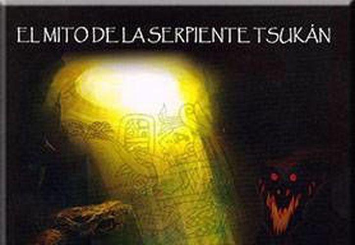 Imagen del libro de Carlos Augusto Evia Cervantes que habla sobre la serpiente Tsukán. (Milenio Novedades)