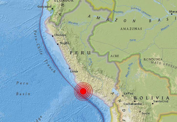 Un terremoto de 6,8 grados se ha registrado en Perú. (earthquake.usgs.gov)