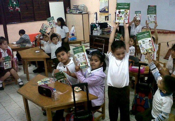 Alumnos de educación básica, dentro del proyecto. (Milenio Novedades)