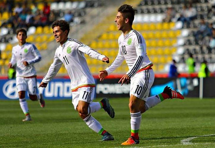 Claudio Zamudio y Bryan Salazar dieron a México la victoria sobre Ecuador y el pase a semifinales del Mundial sub-17 en Chile, donde enfrentará a la vigente selección campeona, Nigeria. (@miseleccion.mx)