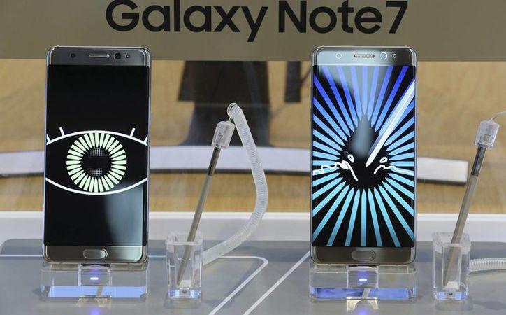 El Teléfono Samsung Galaxy Note7 ha tenido varias fallas, por lo que la empresa surcoreana decidió suspender la venta del dispositivo.(Lee Jin-man/AP)