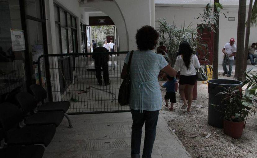 Avanzan trabajos de remodelación en el Ayuntamiento. (Tomás Álvarez/SIPSE)
