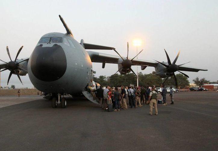 El A400M tenía programado vuelos de exhibición para las Fuerzas Armadas mexicanas. (flightglobal.com)