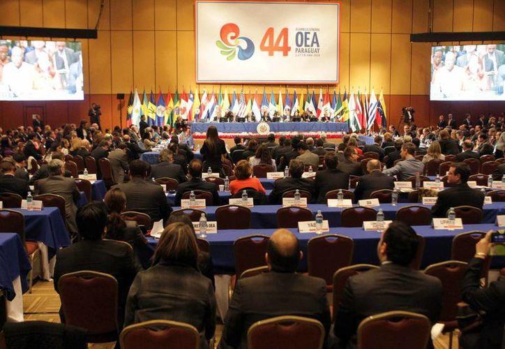 En el encuentro de la Organización de Estados Americanos participan todos los países del continente, excepto Cuba. (EFE)