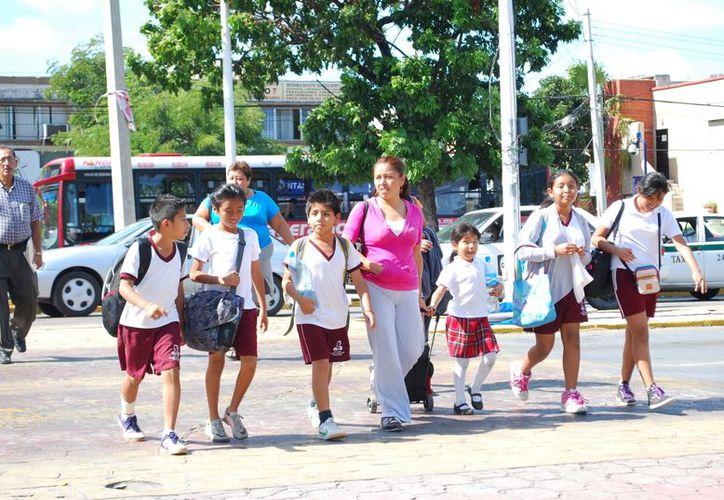 Darán seguridad a los alumnos que sufran algún accidente en el trayecto a la escuela, en la jornada escolar o al regresar a su casa. (Tomás Álvarez/SIPSE)