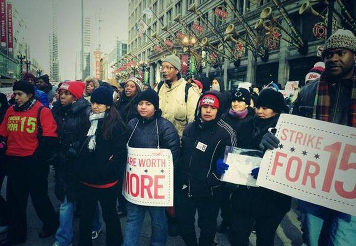 La huelga de un día se realiza en las ciudades de Nueva York, Chicago, Detroit, Boston, Los Ángeles y Nueva Orleans. (twitter.com/fightfor15)
