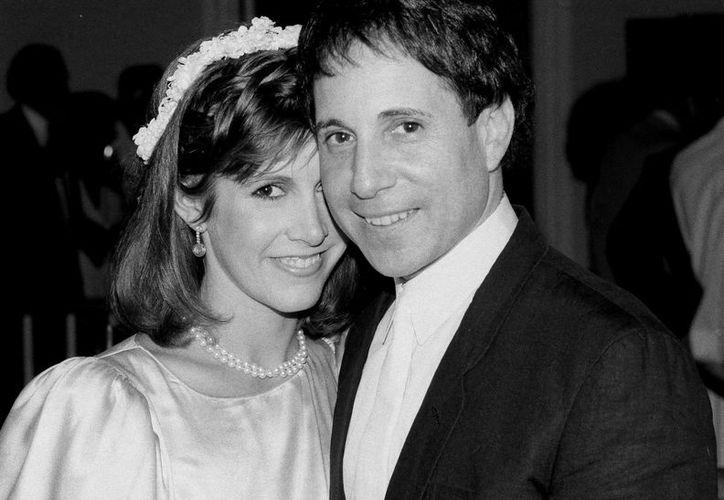 Con su pareja Paul Simon en 1983. (Fotos: AP)