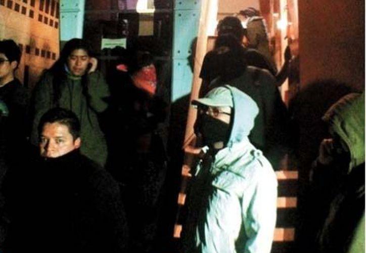 Los manifestantes aseguraron que continuarán con la toma de 5 planteles de la UACM. (Milenio)