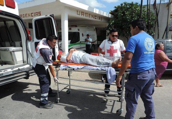 Los afectados afirman que probablemente las vísceras del cerdo se encontraban en estado de descomposición. (Manuel Salazar/SIPSE)