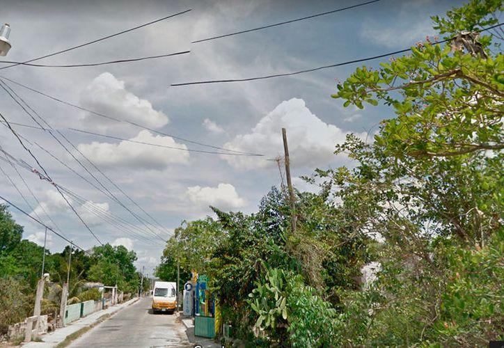 Imagen de la calle 39 de Tizimín; en una casa ubicada en la colonia Carrillo Puerto, un joven se quitó la vida. (Google)