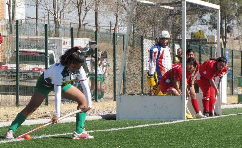 Las deportistas del hockey entrenan en Mérida para la fase regional. (Milenio Novedades)
