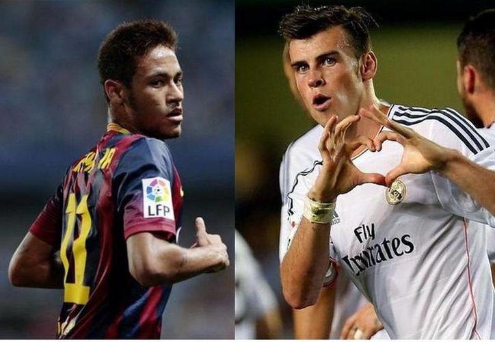 El brasileño Neymar da Silva (i) y el galés Gareth Bale, los fichajes más altos de la historia del futbol español. (EFE/Archivo)