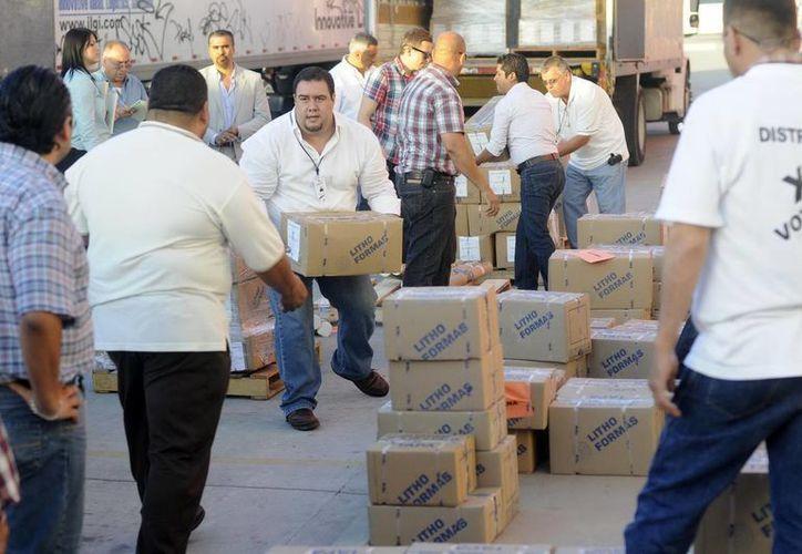 El Instituto Electoral y de Participación Ciudadana de Baja California recibió la documentación que será utilizada en el proceso electoral del 7 de julio. (Notimex)