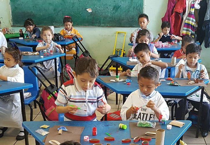 Proyecto del INAH impulsa que desde preescolar se enseñe la lengua maya. (Foto: Milenio Novedades)
