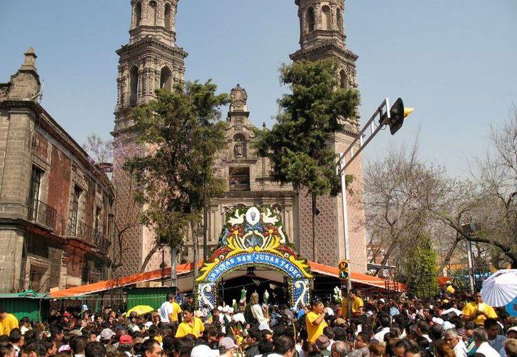 La iglesia de San Hipólito es un centro de peregrinación cada 28 de octubre, día de la fiesta de San Judas Tadeo. (Excélsior)