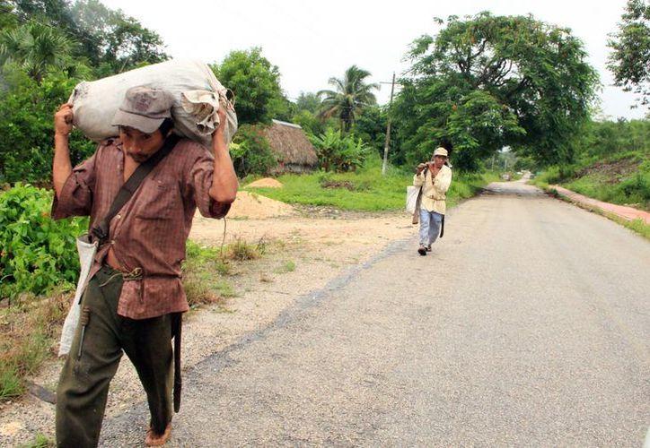En Tekax muchas personas,  principalmente de las comisarías, viven en condiciones de extrema pobreza. (José Acosta/SIPSE)