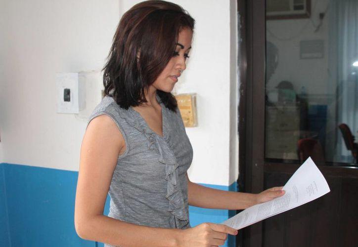 Zeydi pide el reconocimiento de la filiación y el pago de gasto del juicio. (Julián Miranda/SIPSE)