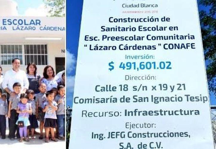 El alcalde Mauricio Vila Dosal entregó este sábado obras en tres comisarías. En las obras, de vivienda y mantenimiento de pozos y alcantarillado, se invirtieron más de 2 millones de pesos. (Foto tomada de twitter.com/MauVila)