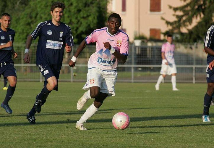 Clarck Nsikulu anotó el primer gol del Evian al minuto 75. (etgfc.com/Foto de archivo)