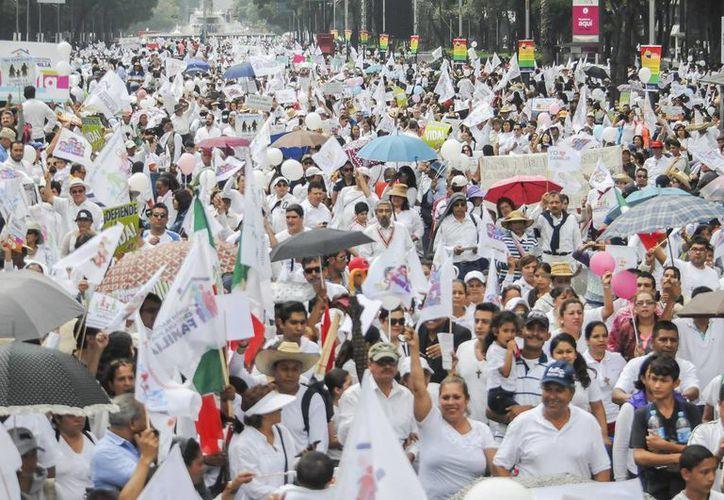 El sábado se realizaron movilizaciones en varias partes del país en pro de la familia. (Archivo/Agencias)