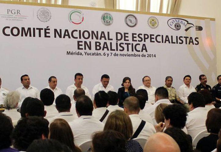 Imagen de la reunión del Comité Nacional de Especialistas en Balística en Yucatán. (Milenio Novedades)