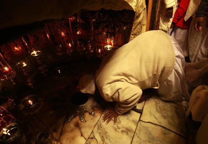 La basílica de la Natividad, en cuya gruta la tradición cristiana ubica el sitio exacto donde nació Jesús, es el monumento protagonista de estas fechas. (EFE)
