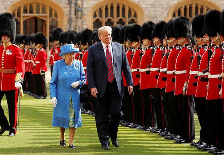 El jefe de la Casa Blanca, Donald Trump, se encuentra en Reino Unido en una visita oficial de dos días.  (Reuters)