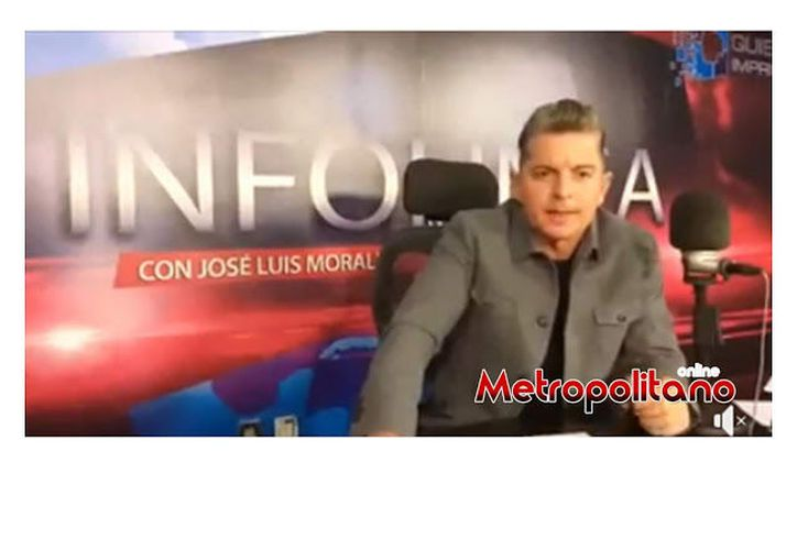El periodista José Luis Morales fue detenido en la puerta de su casa esta mañana, por hablar del gobernador de Aguascalientes, Martín Orozco Sandoval. (Twitter)