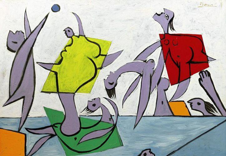 """Imagen cedida por Sotheby's Nueva York que muestra el cuadro """"El rescate"""", pintado por Pablo Picasso en 1932. (EFE)"""