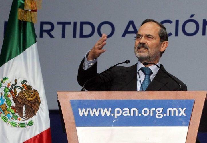 El dirigente del Partido Acción Nacional (PAN), Gustavo Madero en la inauguración de la 17 Asamblea Nacional Extraordinaria de este instituto político. (Agencias)