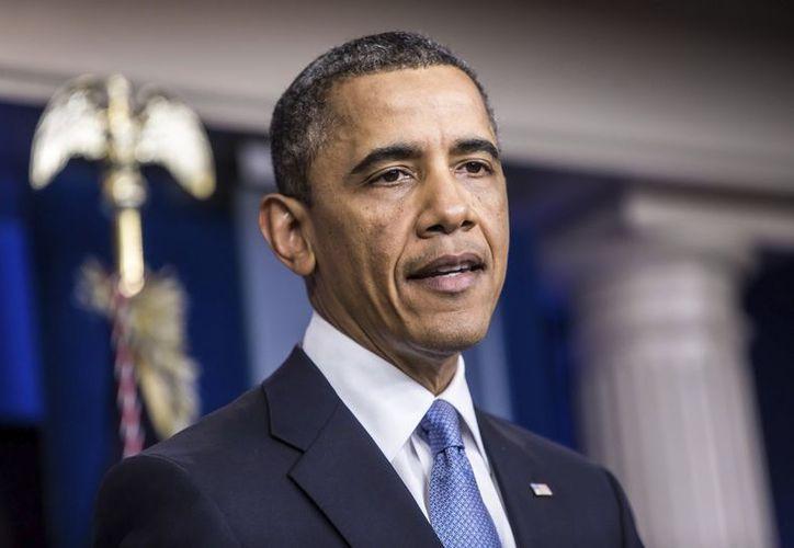 El presidente de Estados Unidos, Barack Obama, con los medios de comunicación en la Casa Blanca en Washington. (EFE)