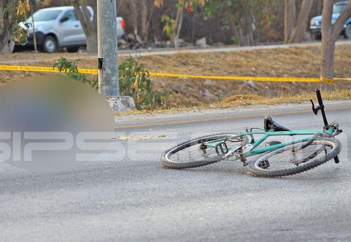 El trágico accidente se presento en el Periférico Poniente de la ciudad. (SIPSE)