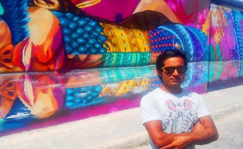 Senkoe llevará su arte al festival St+Art Delhi 2016. (Daniel Pacheco/SIPSE)