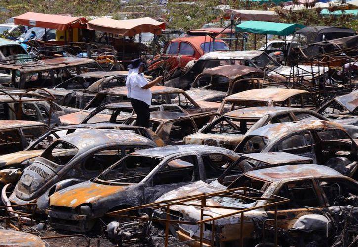 Los hechos ocurrieron en el depósito vehicular número uno de la SSP, ubicado en la avenida Jacinto Canek. (Jorge Acosta/SIPSE)