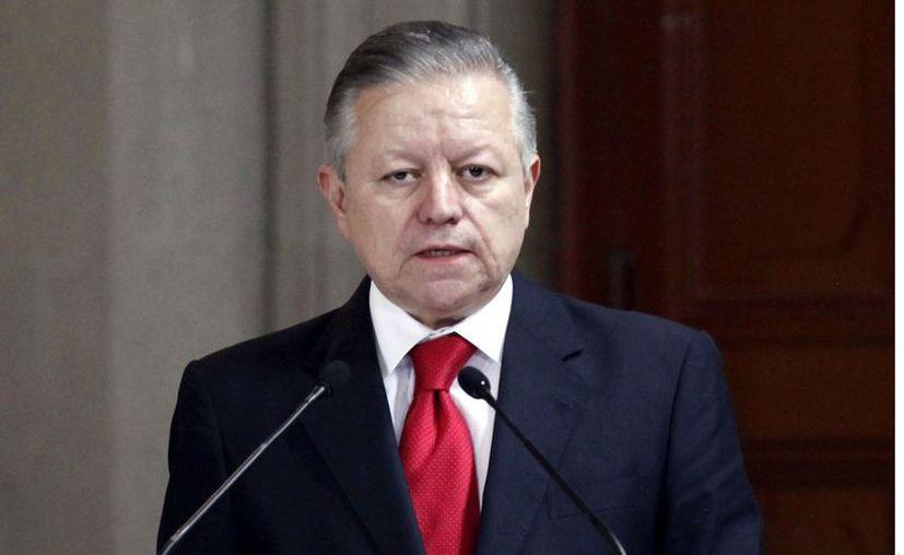"""""""Lo he dicho y hoy lo reitero, el Presidente López Obrador ha sido profundamente respetuoso con la independencia del Poder Judicial"""", afirmó el ministro Zaldivar. (Foto: Reforma)"""
