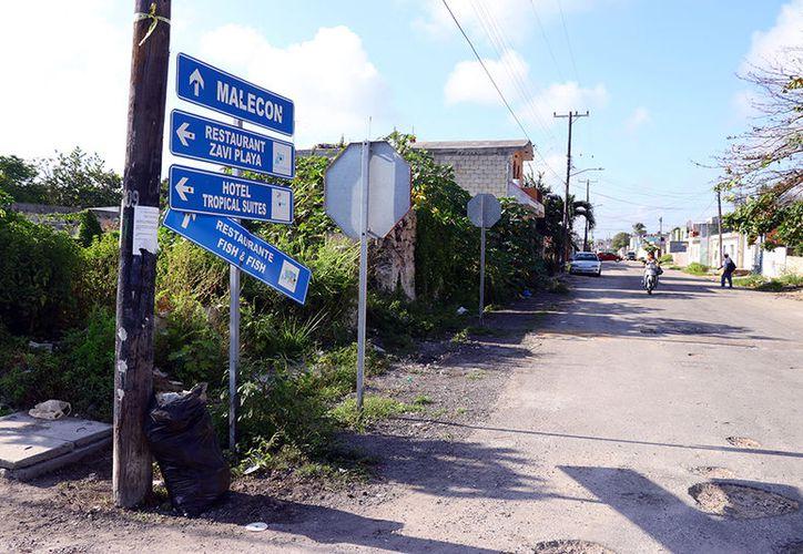 Son evidentes los graves daños que tienen las calles de Progreso.  (Milenio Novedades)