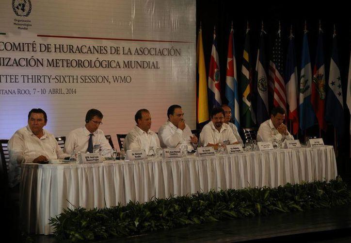 Celebran la Trigésima Sexta Reunión del Comité de Huracanes. (Israel Leal/SIPSE)