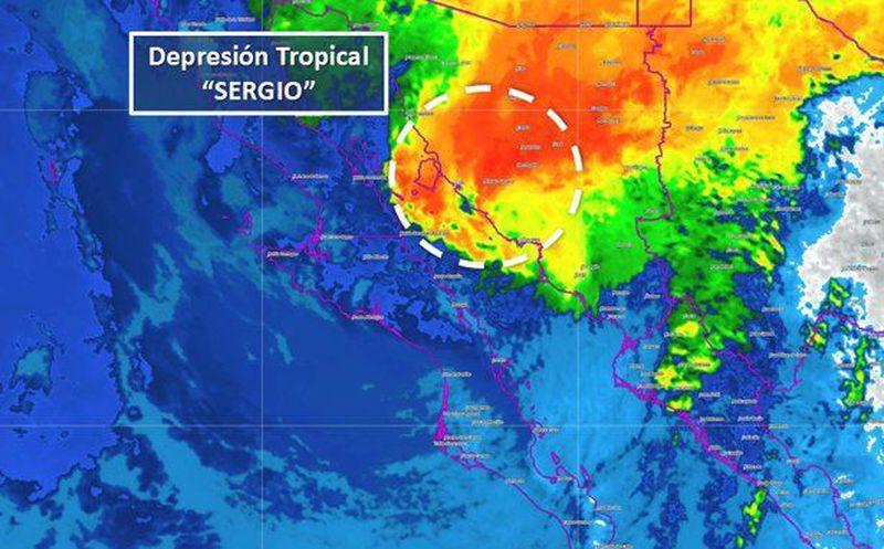 Tormenta tropical Sergio mantiene trayectoria hacia Baja California Sur