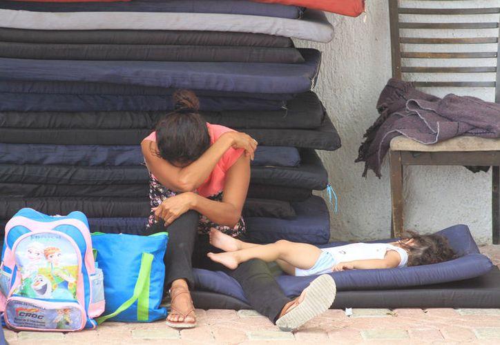 Todas las familias se encuentran ahorrando para la edificación de sus casas provisionales. (Sergio Orozco/ SIPSE)