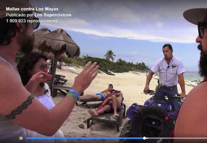 El parque Punta Venado advierte que tras el video publicado por Los Supercívicos, ahora restringirá el acceso a sus instalaciones. (Captura de pantalla)
