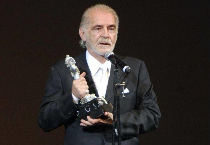 Fernando Luján, quien dio sus primeros pasos en la Época de Oro del Cine Mexicano, no ha dejado de trabajar y protagonizar telenovelas. (Archivo Notimex)