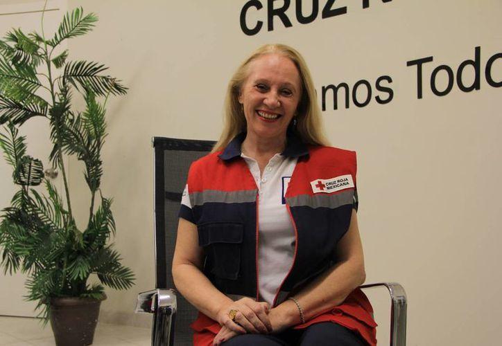 Michelle Byrne de Rodríguez, delegada estatal de la Cruz Roja Mexicana en Yucatán. (Milenio Novedades)