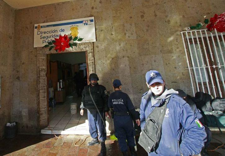Las oficinas de la policía en Michoacán lucen 'desiertas'. (Notimex)