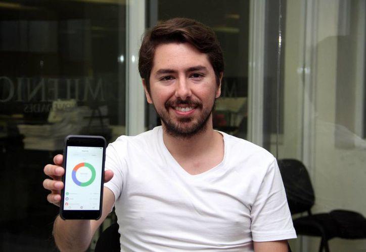 'Todo mundo odia a los bancos, en especial los jóvenes y ahí vimos una oportunidad de mercado', aseguró Ángel Sahagún Fernández, creador de la aplicación móvil Albo. (Milenio Novedades)