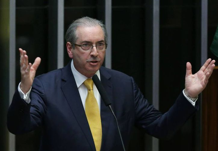 Eduardo Cunha  fue acusado ante el Consejo de Ética de la cámara de ocultar cuentas bancarias en Suiza. (AP/Eraldo Peres)