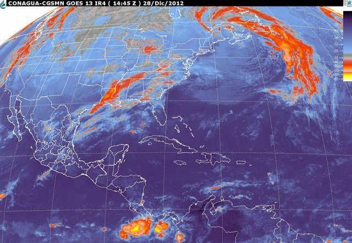 Soplarán vientos del este y sureste de 20 a 40 km/h. (smn.cna.gob.mx)