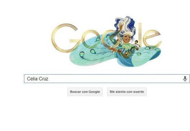 Doodle de Celia Cruz, que formó parte de la famosa Sonora Matancera. (Google)